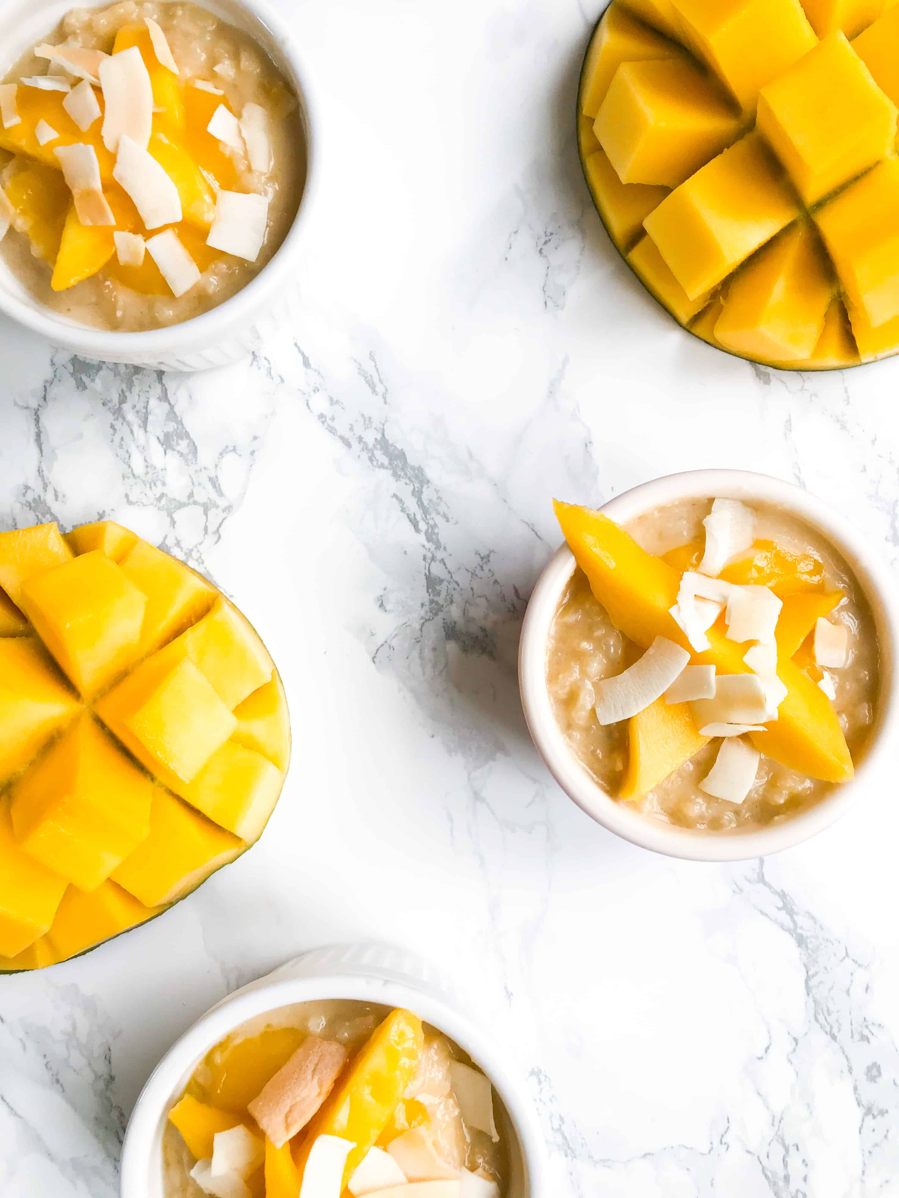 COCONUT AND MANGO RICE PUDDING - VEGAN AND HEALTHY!