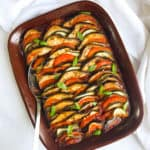 Rainbow Baked Ratatouille With Basil & Thyme - Vegan & GF - Georgie Eats