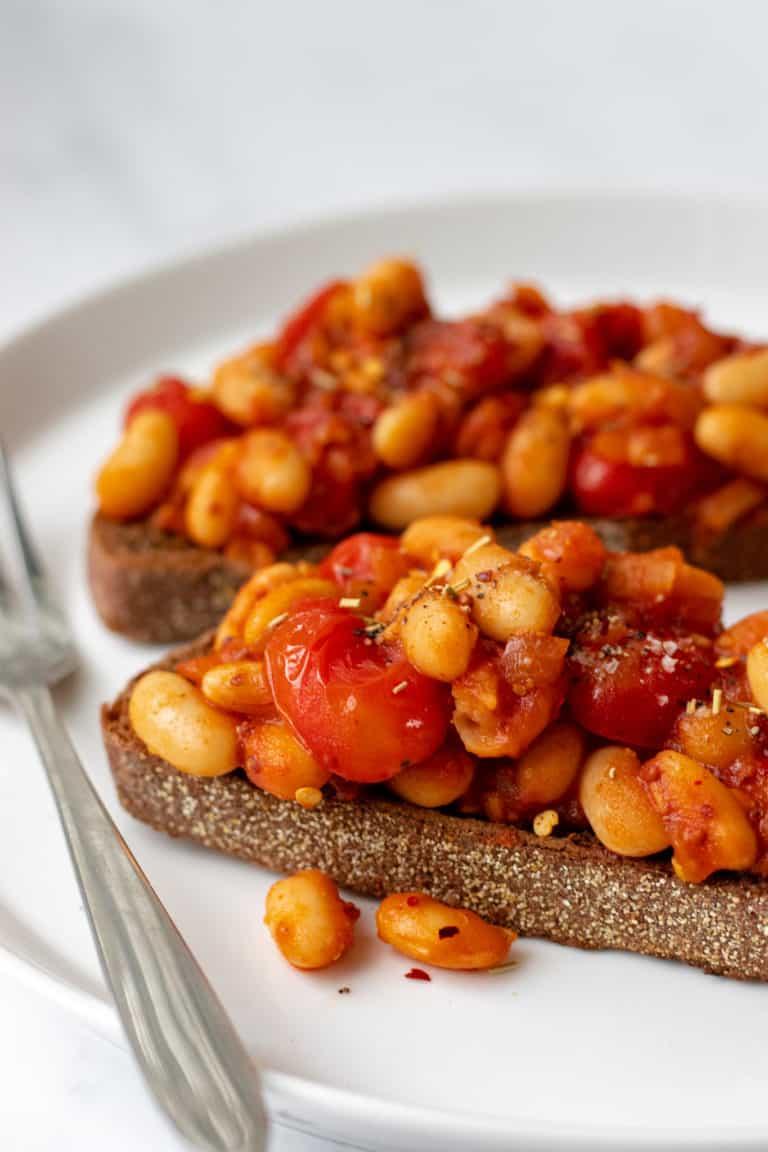 Baked Beans on Toast - Vegan, GF & Healthy! Georgie Eats.