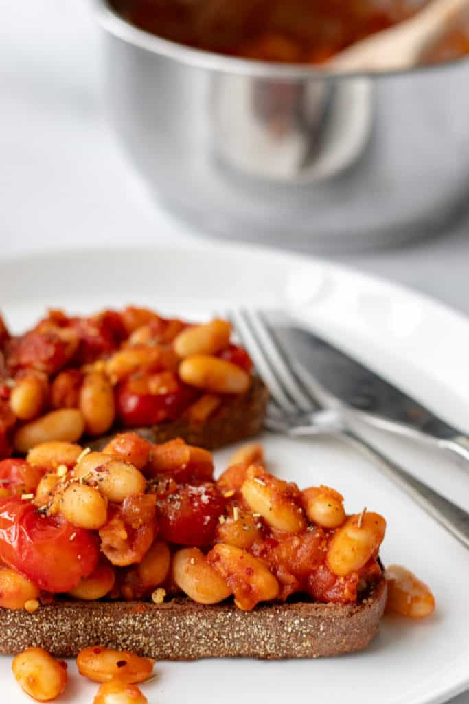 Baked Beans on Toast - Vegan, GF & Healthy! Georgie Eats.