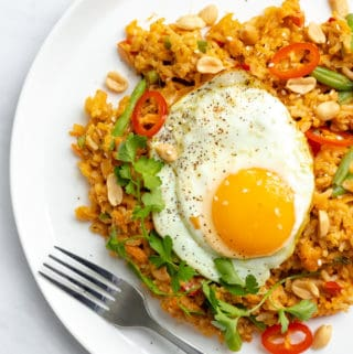 Brown Rice Nasi Goreng Recipe - Healthy & GF! Georgie Eats.