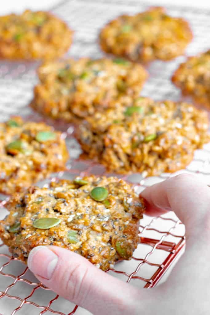 Tahini Breakfast Cookies - Healthy, GF & Vegan! Georgie Eats.