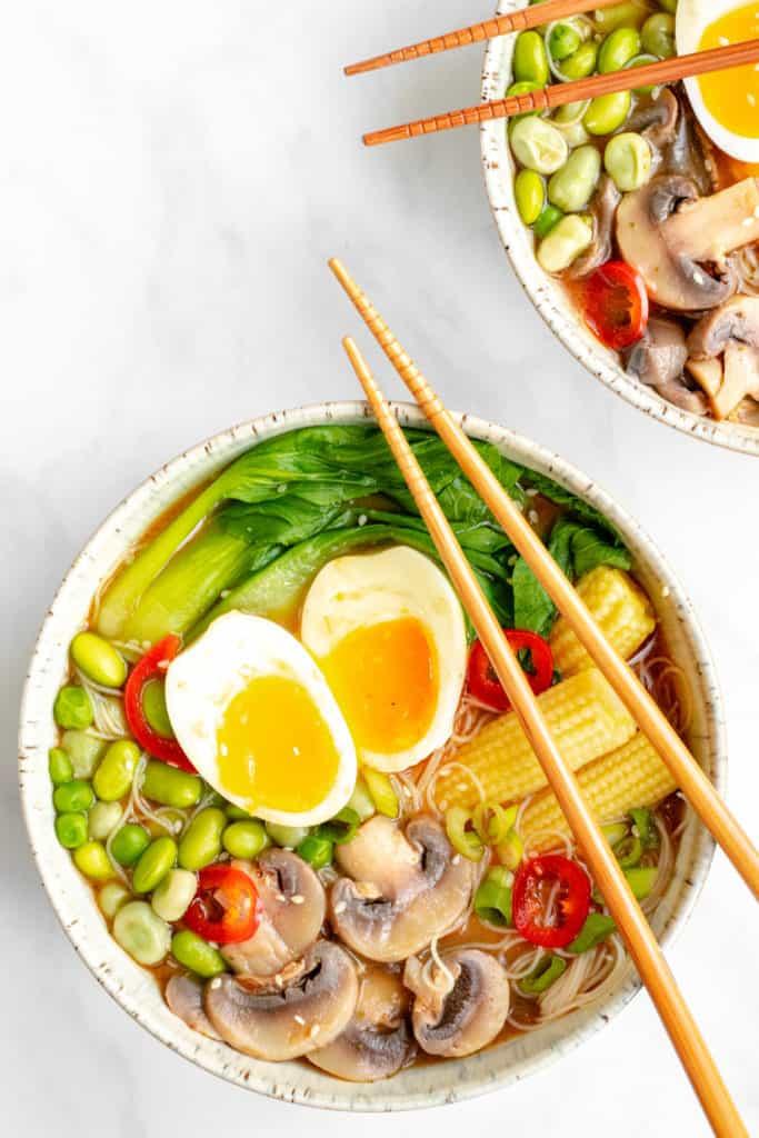 Vegetarian Miso Ramen Recipe - Healthy & GF! Georgie Eats.