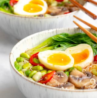 Vegetarian Miso Ramen Recipe - Healthy & GF! Georgie Eats.