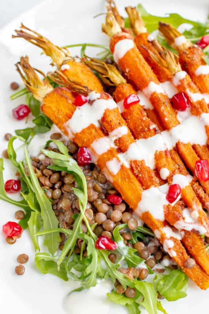 Spiced Carrot & Lentil Salad - Healthy, GF & Vegan! Georgie Eats.