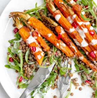 Spiced Carrot & Lentil Salad - Healthy, GF & Vegan! Georgie Eats.