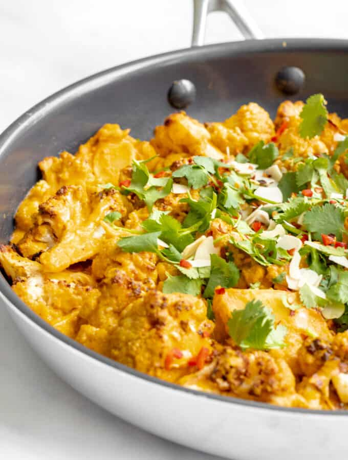 Roasted Cauliflower Curry - Vegan, GF & Healthy! Georgie Eats.