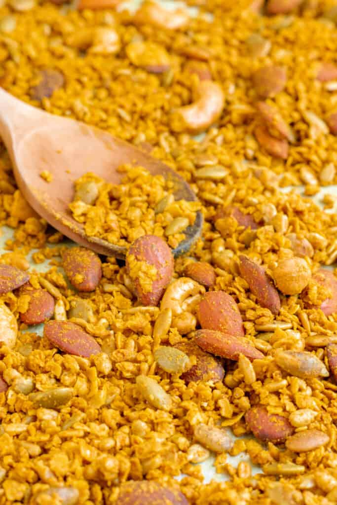 Indian Spiced Savoury Granola - Vegan, GF & Healthy! Georgie Eats.
