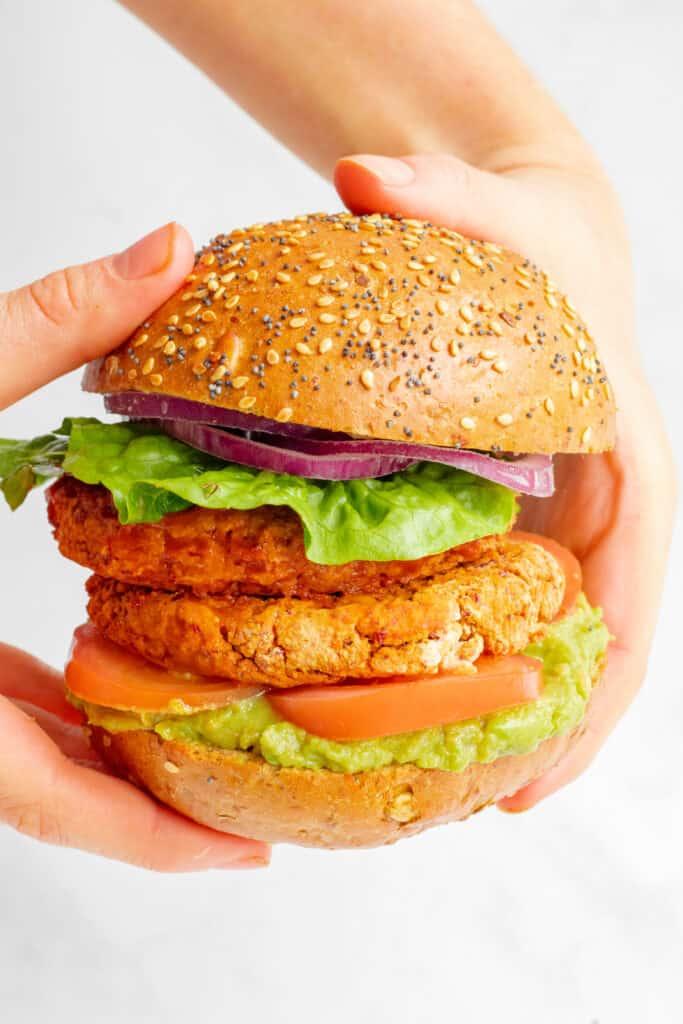 Smoky Bean Burgers - Vegan, GF & Healthy! Georgie Eats.