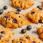 Blueberry Crumble Cookies - Vegan, GF & healthy! Georgie Eats.