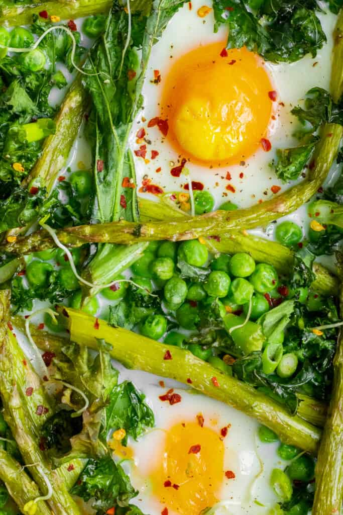 Summer Greens Breakfast Bake - GF & Healthy! Georgie Eats.