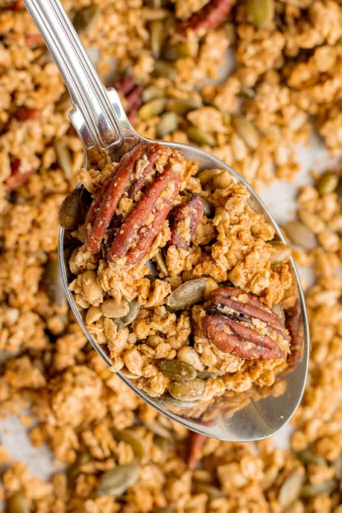 A Spoonful Of Maple Sea Salt Granola - Vegan, GF & Healthy! Georgie Eats.