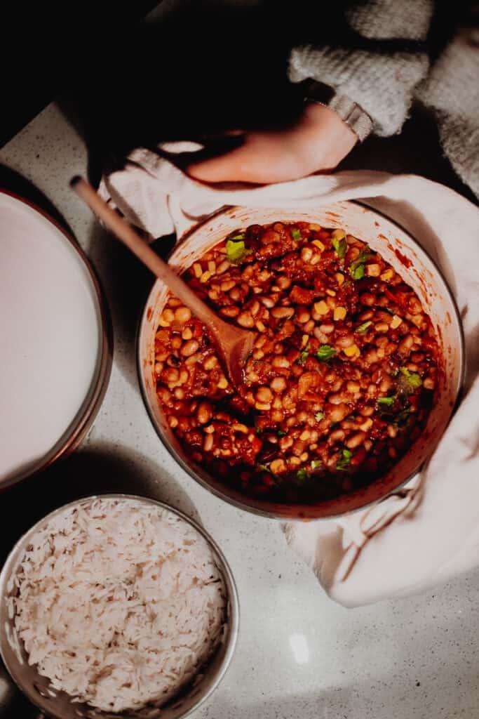 Mixed-Bean Veggie Chilli - Vegan, GF & Healthy! Georgie Eats.