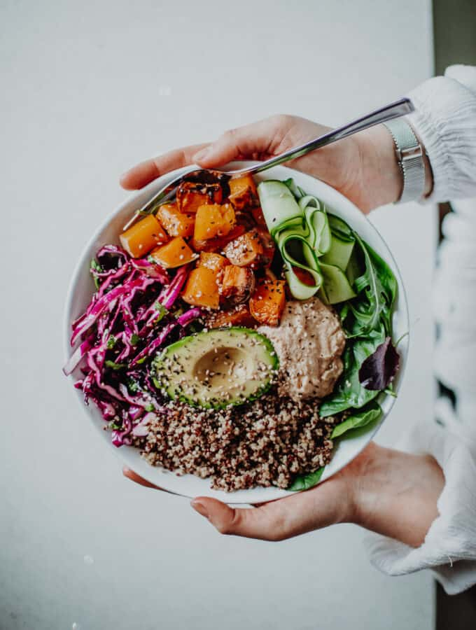 Sweet Potato Nourish Bowl - Vegan, Gluten-Free & Healthy! Georgie Eats.