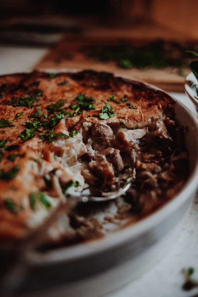 Leek & Mushroom Pie - Vegan, GF & Healthy! Georgie Eats