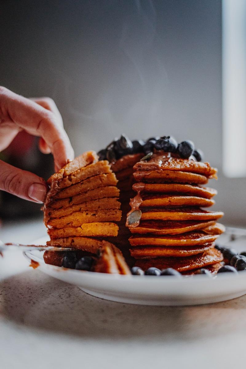 Pumpkin Pancakes - Gluten-Free & Healthy! Georgie Eats.