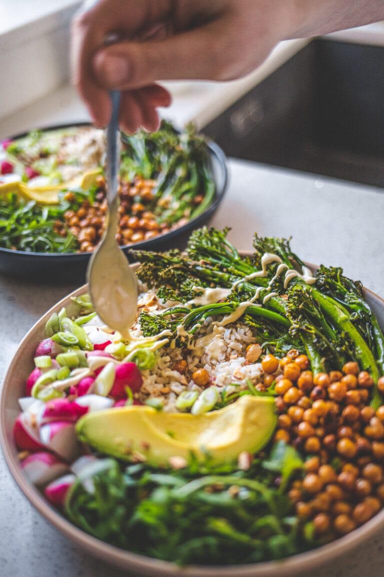 Roasted Broccoli Nourish Bowl - Vegan & Gluten-Free! Georgie Eats.